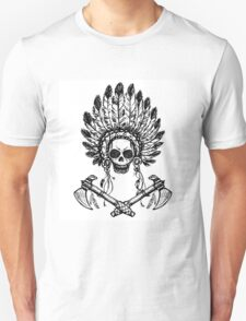 North American Indian chief with tomahawk T-Shirt