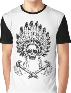 North American Indian chief with tomahawk Graphic T-Shirt