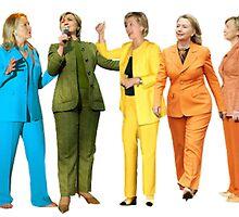 Hilary's Rainbow Pantsuits  by sadgurl00