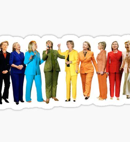 Hilary's Rainbow Pantsuits  Sticker