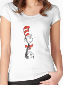 Dr Suess | Official | Cat In The Hat Women's Fitted Scoop T-Shirt