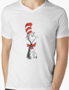 Dr Suess | Official | Cat In The Hat Mens V-Neck T-Shirt