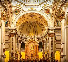 Inside the church of La Mare de Déu del Consol by Ralph Goldsmith