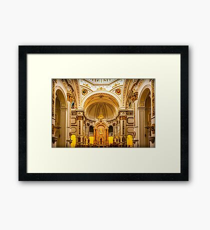 Inside the church of La Mare de Déu del Consol Framed Print