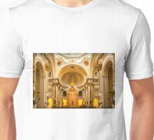 Inside the church of La Mare de Déu del Consol Unisex T-Shirt