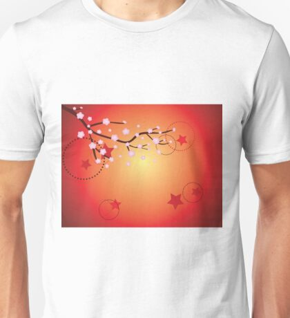 Decorative Sakura Background 3 Unisex T-Shirt