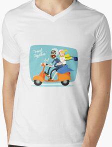 Travel Together Mens V-Neck T-Shirt