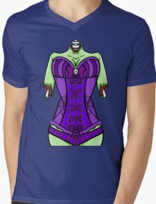 Corset Zombie Mens V-Neck T-Shirt