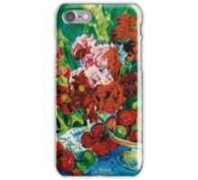 Nikolai Alexandrovich Tarkhov  STILL LIFE WITH FRUIT AND FLOWERS iPhone Case/Skin