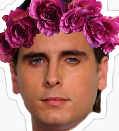 Scott Flower Crown Sticker