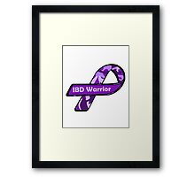 IBD Warrior camo Ribbon BLK Framed Print