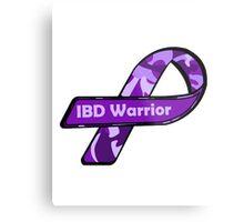 IBD Warrior camo Ribbon BLK Metal Print