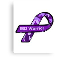 IBD Warrior camo Ribbon BLK Canvas Print