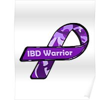 IBD Warrior camo Ribbon BLK Poster