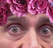 Michael Scott Flower Crown Sticker