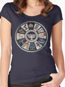 mosaic Hebrew, Jewish, 12 tribes Women's Fitted Scoop T-Shirt