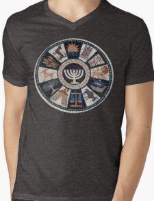 mosaic Hebrew, Jewish, 12 tribes Mens V-Neck T-Shirt