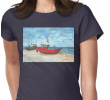 Fishing Boats at the Baltic Sea  Womens Fitted T-Shirt