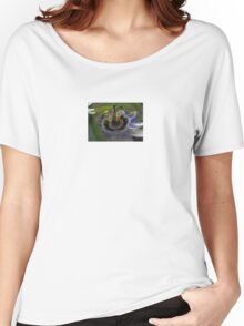 Front View of Beautiful Passiflora Flower Women's Relaxed Fit T-Shirt