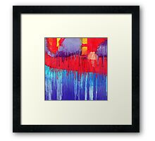 Melting superhero  Framed Print