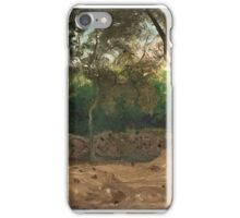 OLOF ARBORELIUS, FOREST GLADE WITH WALL, SCENE FROM THE ITALIAN COAST. iPhone Case/Skin
