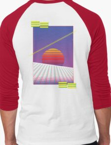 Retro Sunset Men's Baseball ¾ T-Shirt