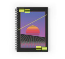 Retro Sunset Spiral Notebook