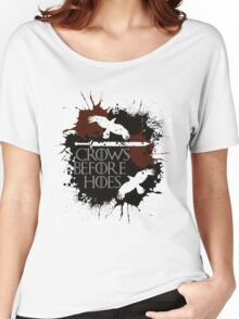 Crows Before Hoes - GoT Women's Relaxed Fit T-Shirt