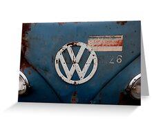 rustic vw badge Greeting Card