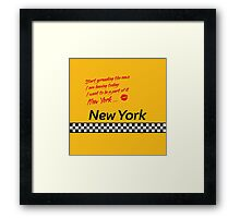 TAXI of New York, New York Framed Print