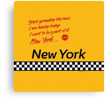 TAXI of New York, New York Canvas Print
