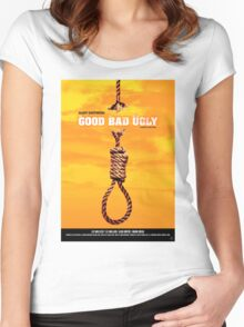 The Good, the Bad and the Ugly - Movie Poster Women's Fitted Scoop T-Shirt