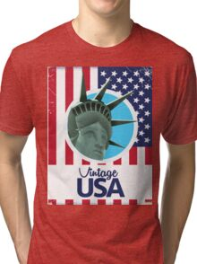 Vintage USA Travel poster Tri-blend T-Shirt