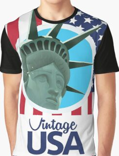 Vintage USA Travel poster Graphic T-Shirt