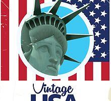 Vintage USA Travel poster by Nick  Greenaway