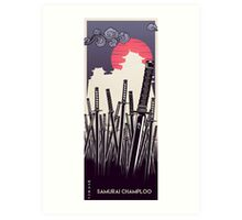 Samurai Champloo Design  Art Print