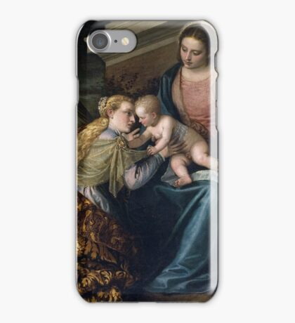 Paolo Veronese, The Holy Family with the Infant St. John the Baptist iPhone Case/Skin