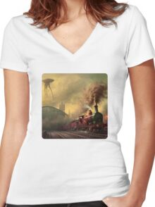 The fall of London Women's Fitted V-Neck T-Shirt