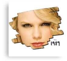 face Taylor swift - ts 1989 Canvas Print