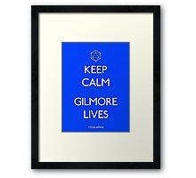 Keep Calm Gilmore Lives Framed Print