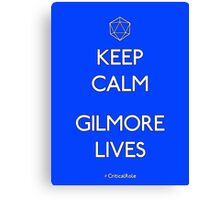 Keep Calm Gilmore Lives Canvas Print