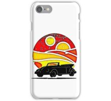 Sunset Beetle silhouette iPhone Case/Skin