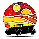 Sunset Beetle silhouette by Sharon Poulton