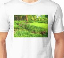 Impressions of Gardens - Lush Green and Blooming Peonies Unisex T-Shirt