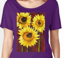 3 Sunflowers Women's Relaxed Fit T-Shirt