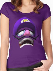 Waluigi Face Women's Fitted Scoop T-Shirt