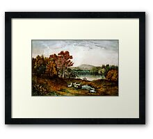 Autumn on Lake George - 1907 - Currier & Ives Framed Print