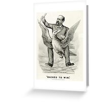 Backed to win - 1880 - Currier & Ives Greeting Card