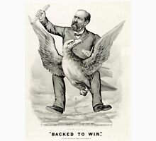 Backed to win - 1880 - Currier & Ives Unisex T-Shirt