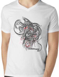 'Smoke' design by LUCILLE Mens V-Neck T-Shirt